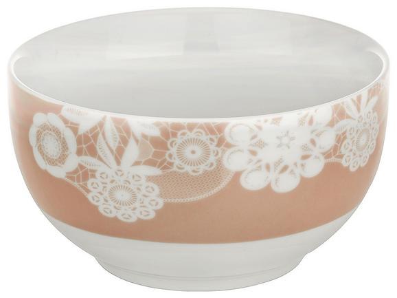 Müslischale Lacey Rosa - Rosa, ROMANTIK / LANDHAUS, Keramik (14cm) - Mömax modern living