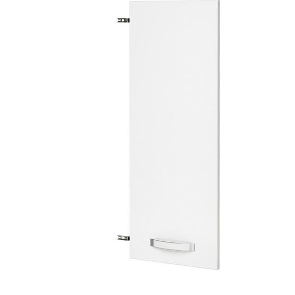 Tür in Weiß Hochglanz - Weiß, MODERN, Holzwerkstoff/Kunststoff (39.4/105.3/1.8cm) - Premium Living