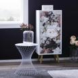 Beistelltisch aus Metall in Weiß - Weiß, LIFESTYLE, Metall (38/50cm) - Modern Living