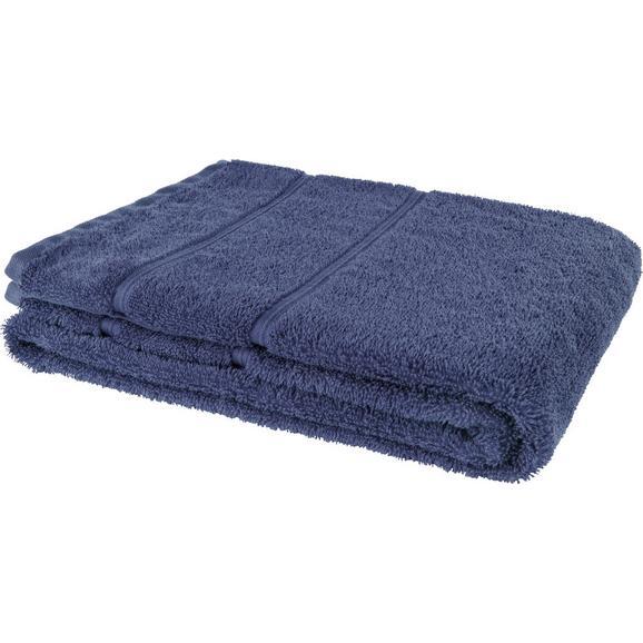 Duschtuch Melanie Blau - Blau, Textil (70/140cm) - Mömax modern living