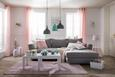 Ösenvorhang Noah Rosa ca. 140x250cm - Rosa, ROMANTIK / LANDHAUS, Textil (140/250cm) - Mömax modern living