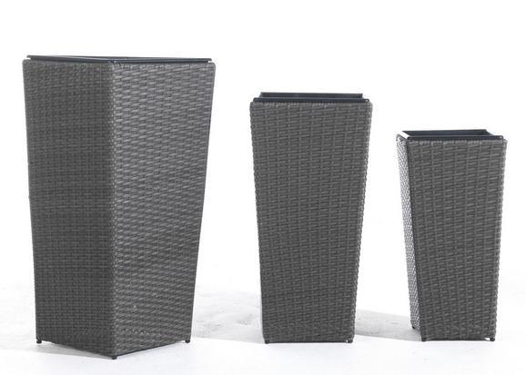 Übertopf Spot in Grau - Grau, Kunststoff/Metall (25/30/36/54/64/73/25/30/36cm) - MÖMAX modern living