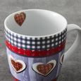 Kaffeebecherset aus Keramik 2-teilig ''Heidi'' - Multicolor, Keramik (8,5/10,4cm) - Bessagi Home