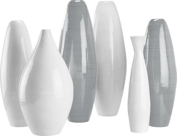 Vase Diana in verschiedenen Farben - Weiß/Grau, LIFESTYLE, Holz (19/55cm) - Mömax modern living
