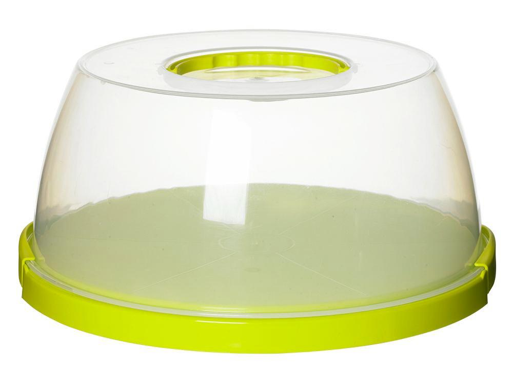 Tortenglocke Bettina - Transparent/Grün, Kunststoff (32,0/14,9cm) - MÖMAX modern living