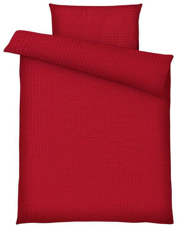 Posteljnina Brigitte - rdeča, Konvencionalno, tekstil - Mömax modern living