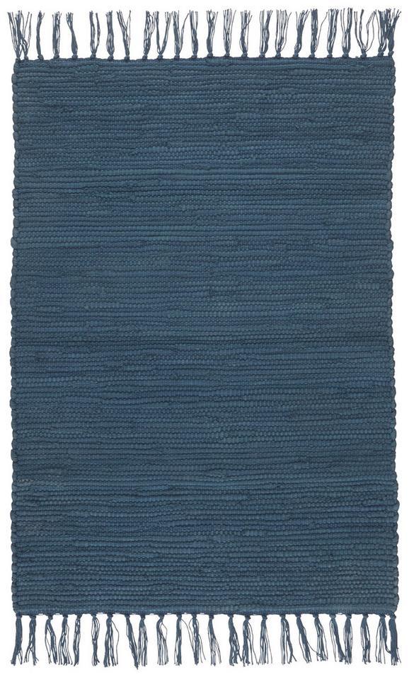 Fleckerlteppich Julia Dunkelblau 60x90cm - Dunkelblau, ROMANTIK / LANDHAUS, Textil (60/90cm) - MÖMAX modern living