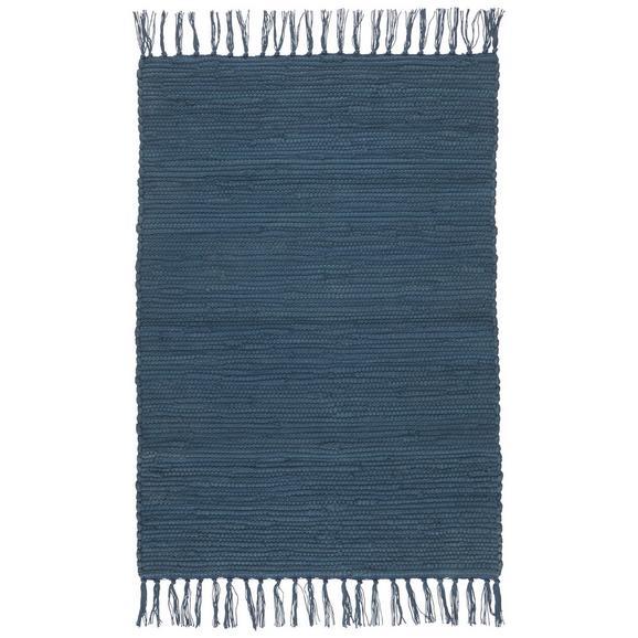 Fleckerlteppich Julia Dunkelblau 70x230cm - Dunkelblau, ROMANTIK / LANDHAUS, Textil (70/230cm) - Mömax modern living
