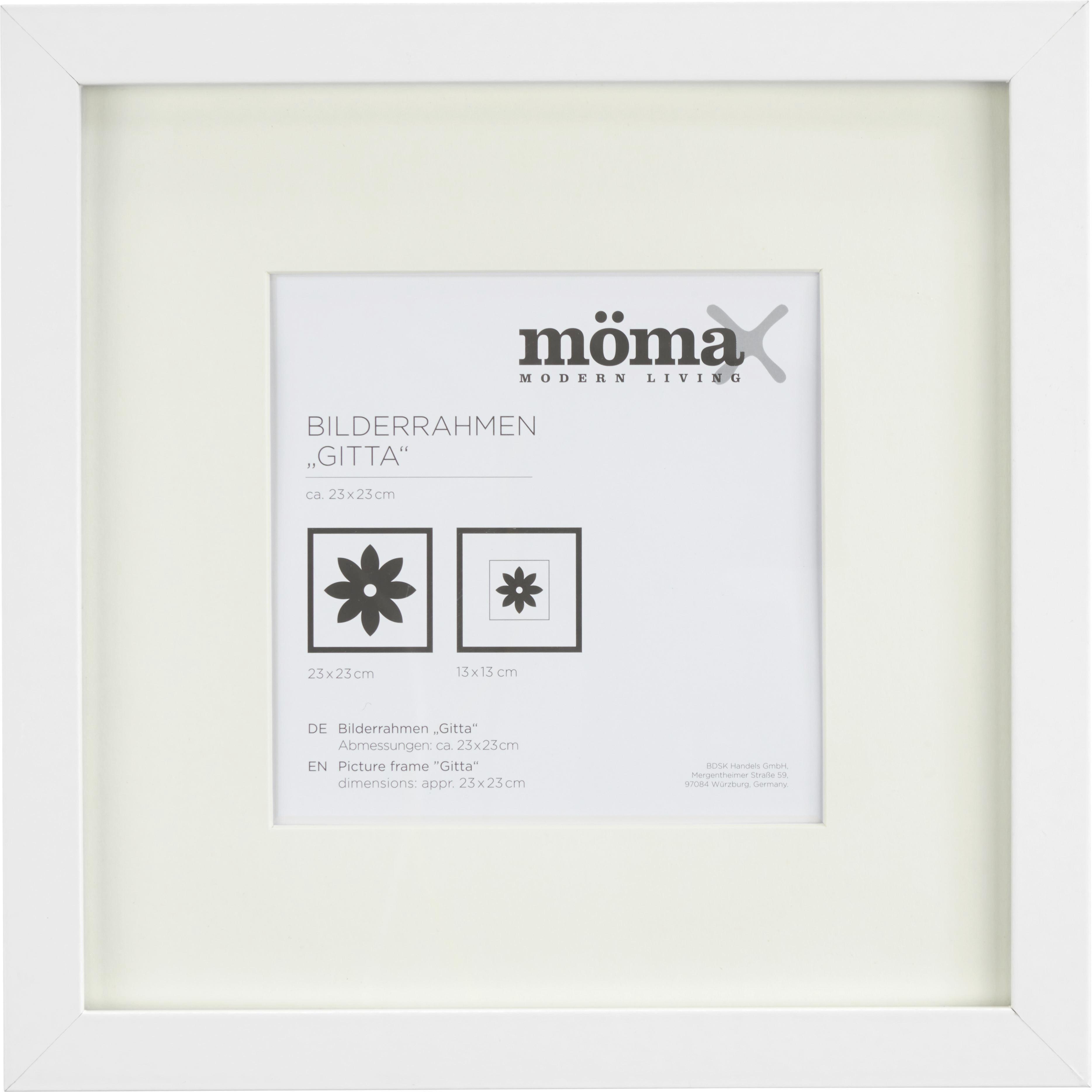 Bilderrahmen Gitta, ca. 23x23cm in Weiß online kaufen ➤ mömax