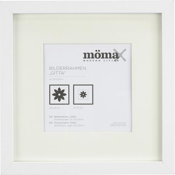 Bilderrahmen Gitta, ca. 23x23cm in Weiß - Weiß, MODERN, Glas/Holz (23/23cm) - Mömax modern living