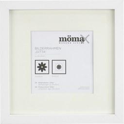 Bilderrahmen Gitta Weiß ca. 23x23cm - Weiß, MODERN, Glas/Holzwerkstoff (23/23/3,6cm) - Mömax modern living