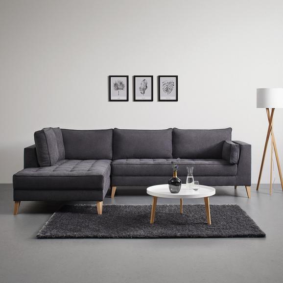 Wohnlandschaft Lena inkl. Kissen - Anthrazit, MODERN, Holz/Textil (310/205cm) - Modern Living