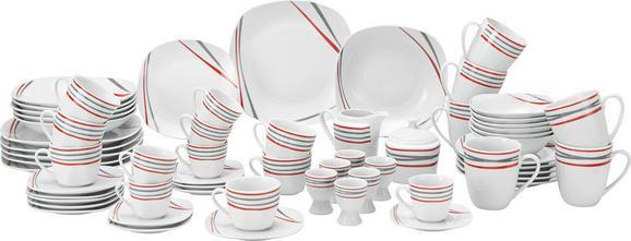 Kombiservice Renate in Weiß, 62-teilig - Rot/Weiß, KONVENTIONELL, Keramik - MÖMAX modern living