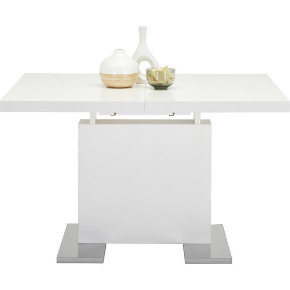 Jedilna Miza Campino Ca. 120-160x80 Cm - bela/krom, Moderno, kovina/leseni material (120-160/76/80cm) - Premium Living