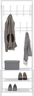 Garderobenständer in Weiß aus Metall - Weiß, MODERN, Metall (67/185/32cm) - Mömax modern living