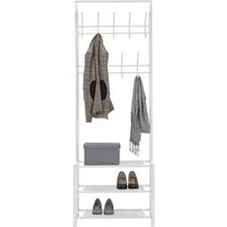 Garderobenständer in Weiß - Weiß, MODERN, Metall (67/185/32cm) - Mömax modern living