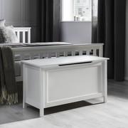 Truhe Leandro mit Stauraum - Weiß, MODERN, Holzwerkstoff (90/50/40cm) - Modern Living