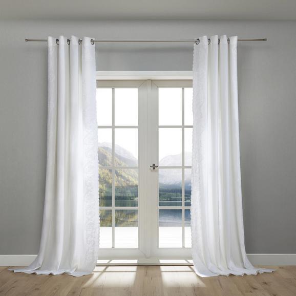 Leinenvorhang Nele 140x245cm - Weiß, KONVENTIONELL, Textil (140/245cm) - Mömax modern living