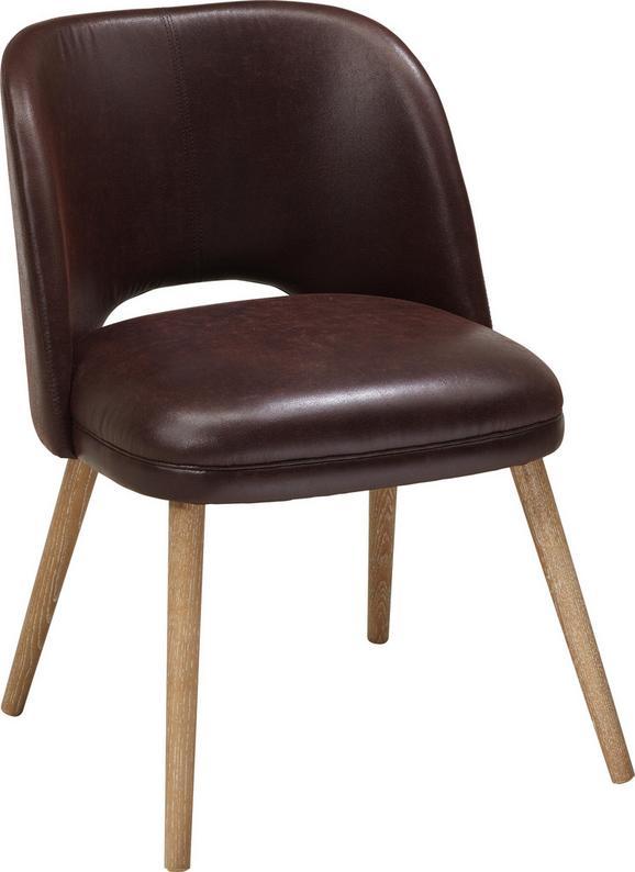 Stuhl Braun/Naturfarben - Braun/Naturfarben, MODERN, Holz/Textil (54,5/63/79cm) - Mömax modern living