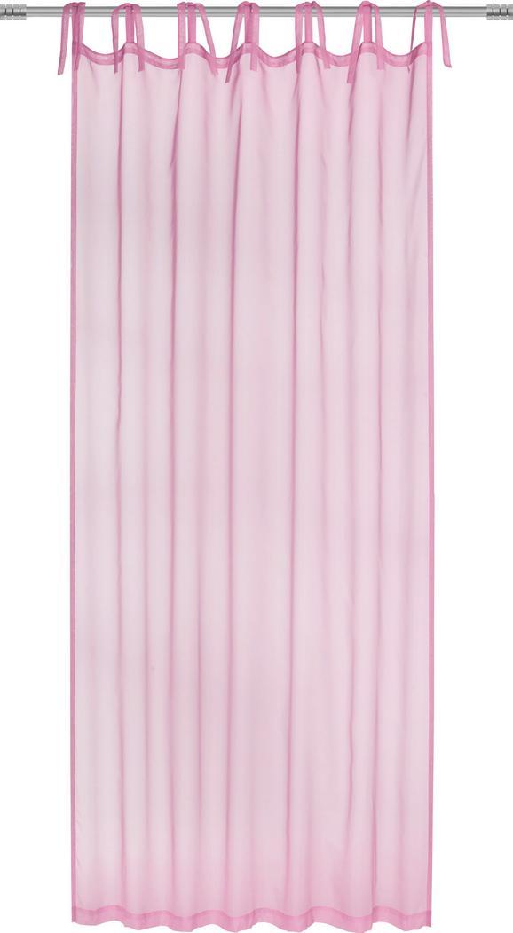 Schlaufenvorhang Lisa, ca. 145x245cm - Hellgrün/Rosa, ROMANTIK / LANDHAUS, Textil (145/245cm) - Mömax modern living