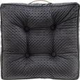Stuhlkissen in Grau 'Miley' ca. 45x45cm - Grau, MODERN, Textil (45/45/8cm) - Bessagi Home