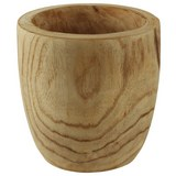 Übertopf Wooden aus Paulownia massiv - Naturfarben, Holz (17/17cm) - Mömax modern living