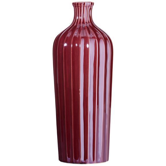 Vase Belinda aus Steinzeug - Violett, Keramik (10,5/27,5cm) - Mömax modern living
