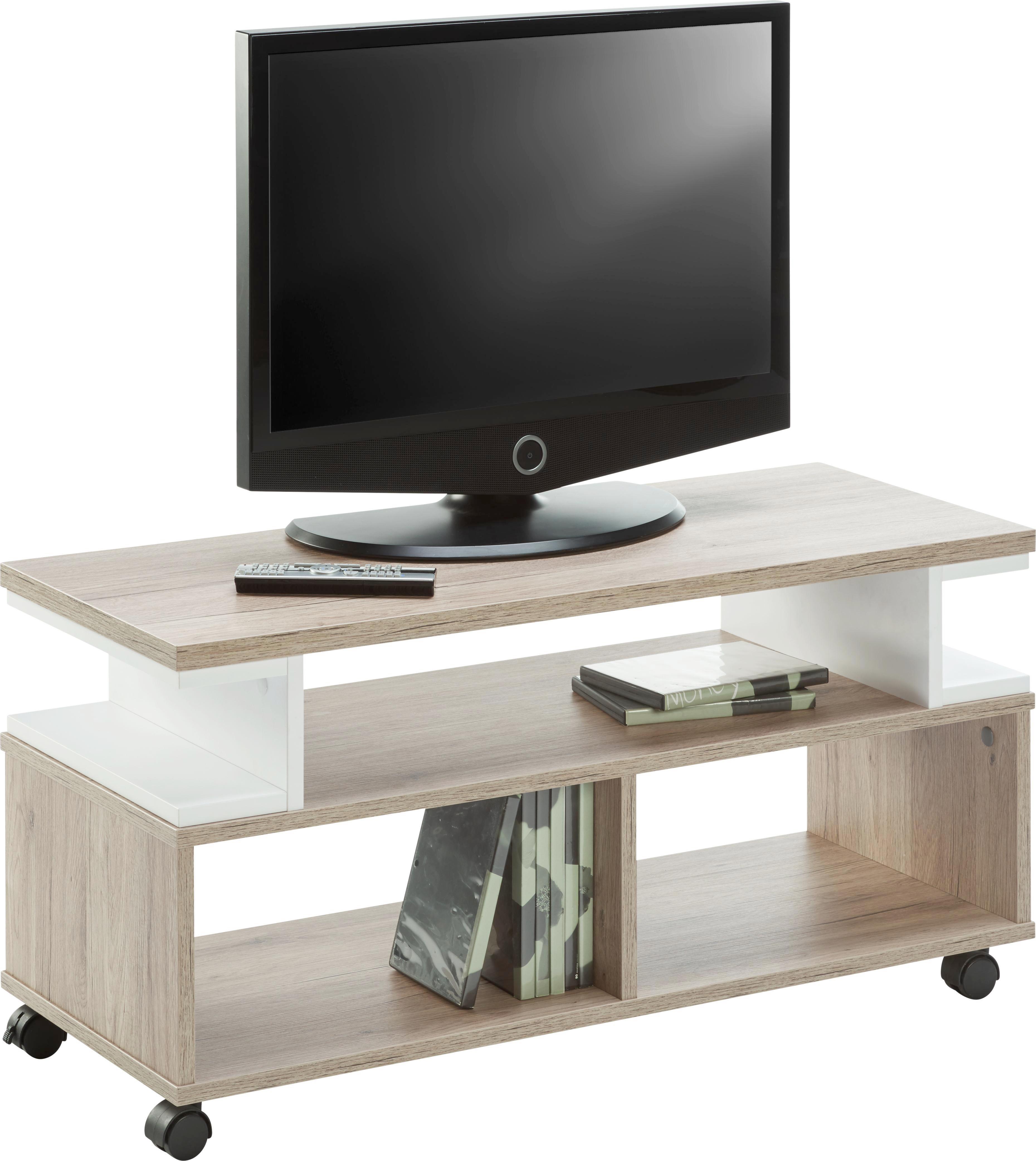 TV-Element Weiß/Braun - Braun/Weiß, MODERN, Holzwerkstoff (90/45,3/38cm) - MÖMAX modern living