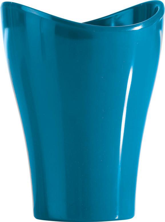 Zahnputzbecher Bella Petrol - Petrol, KONVENTIONELL, Kunststoff (9,12/11,91cm) - Mömax modern living