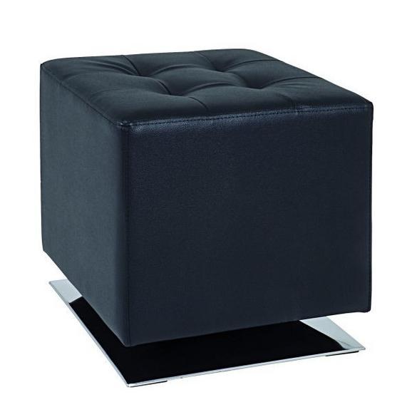Taburet Beto - črna/krom, Moderno, kovina/umetna masa (42/45/42cm) - Mömax modern living