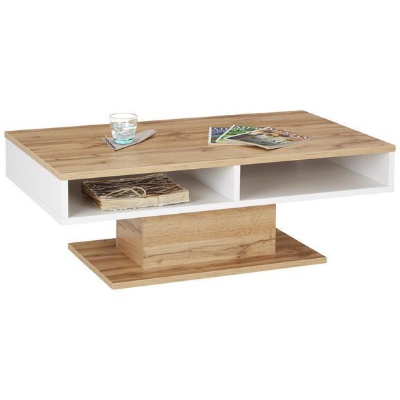 Klubska Miza Alamo - bela/hrast, Moderno, leseni material (120/43/70cm) - Modern Living