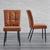 Stuhl Zoey - Rostfarben/Schwarz, MODERN, Holz/Textil (51/93,5/61cm) - Modern Living