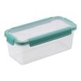 Frischhaltedose Linnea Mint/transparent - Transparent/Mintgrün, MODERN, Kunststoff (22,0/10,9/8,5cm)