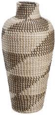 Pletena Vaza Luis - naravna/črna, umetna masa/ostali naravni materiali (25/54cm) - Mömax modern living