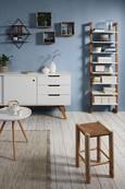 Regal Weiß/Naturfarben - Naturfarben/Weiß, MODERN, Holz/Holzwerkstoff (55/180/25cm) - Mömax modern living