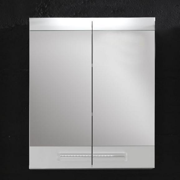 Spiegelschrank Bora - Chromfarben/Weiß, MODERN, Holzwerkstoff/Kunststoff (60/71/15cm)