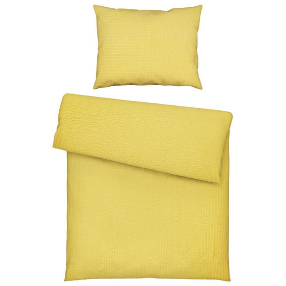 Lenjerie De Pat Brigitte - galben, Konventionell, textil (140/200cm) - Modern Living