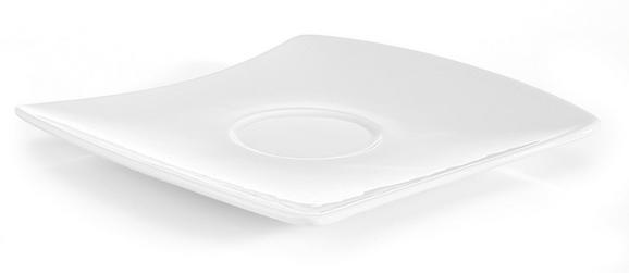 Untertasse Tacoma in Weiß - Weiß, LIFESTYLE, Keramik (16/2,2/14,6cm) - Premium Living