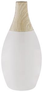 Dekorativna Vaza Dotty - bela, keramika (14/26cm) - Mömax modern living
