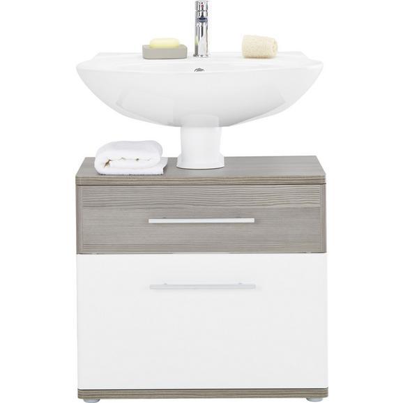 Badezimmer Schrank Dunkelbraun: Waschbeckenunterschrank In Braun/Weiß Online Kaufen Mömax