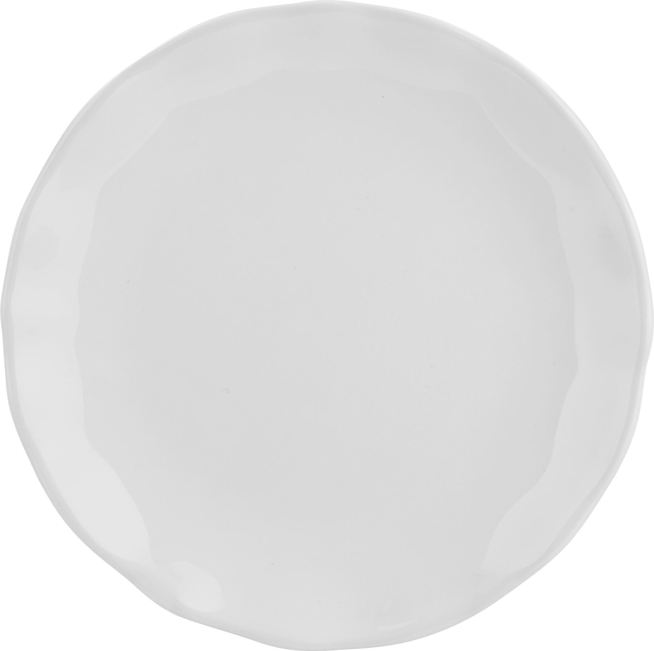 Dessertteller Pauline in Weiß - Weiß, ROMANTIK / LANDHAUS, Keramik (19cm) - ZANDIARA