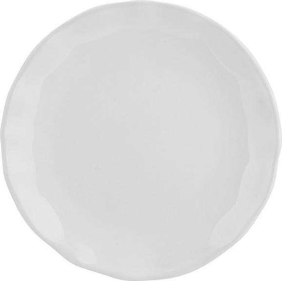 Dessertteller Pauline Weiß - Weiß, ROMANTIK / LANDHAUS, Keramik (19cm) - Zandiara