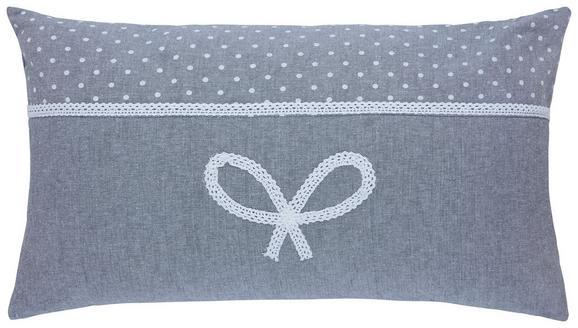Zierkissen Elisabeth Grau 30x50cm - Grau, ROMANTIK / LANDHAUS, Textil (30/50cm) - ZANDIARA