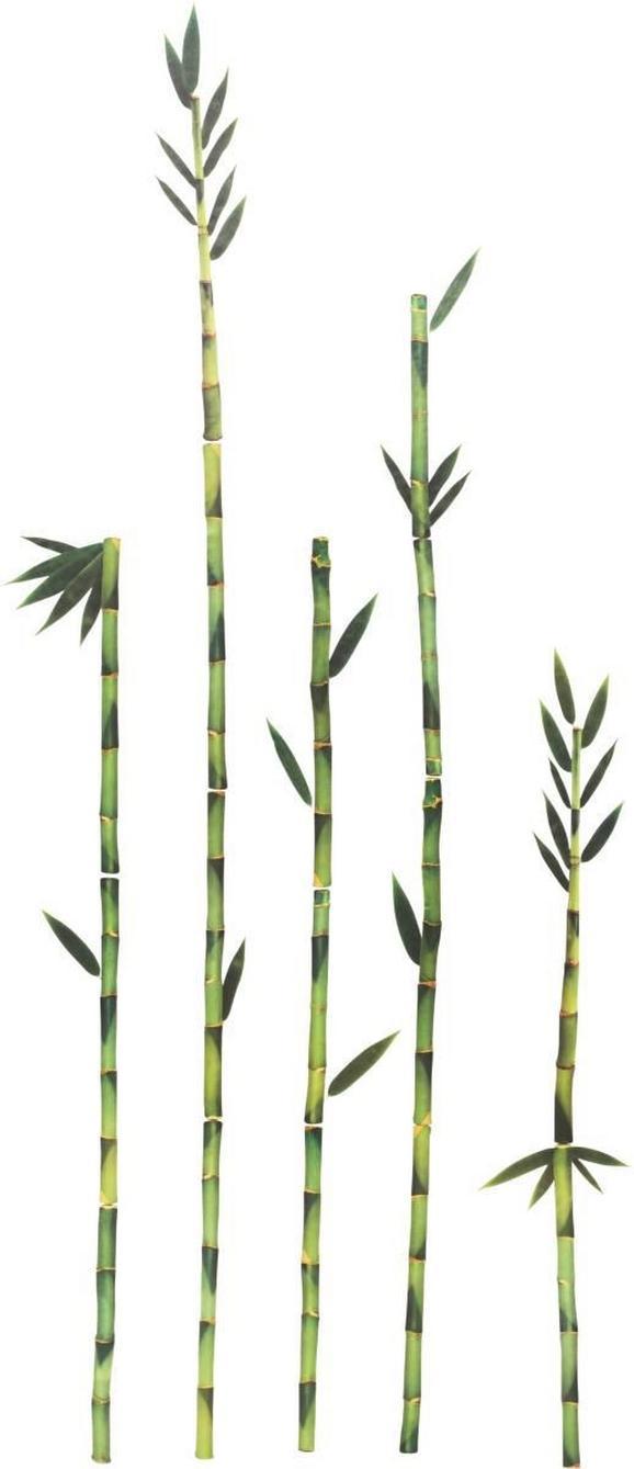 Dekosticker Bambus, ca. 50x70cm - Grün, MODERN, Kunststoff (50/70cm)
