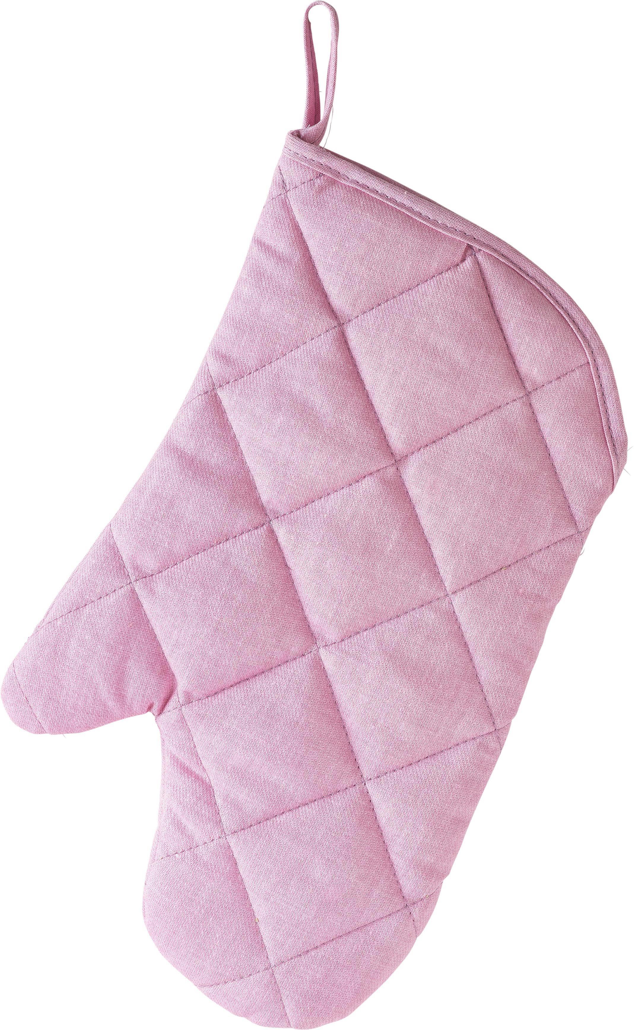 Edényfogó Kesztyű Evelin - rózsaszín, textil (19/30cm) - MÖMAX modern living