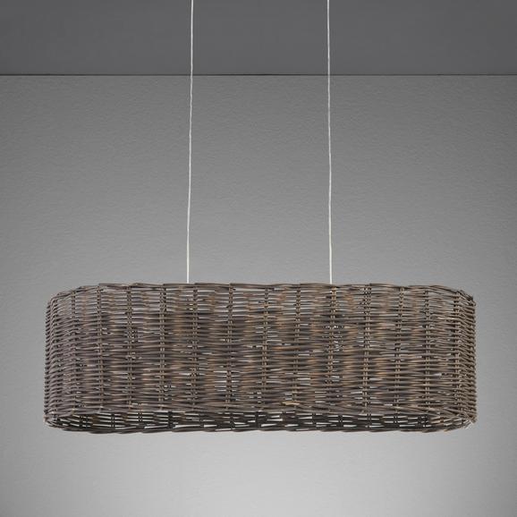 Hängeleuchte Charles - Grau/Nickelfarben, MODERN, Metall (110/33/120cm) - MÖMAX modern living
