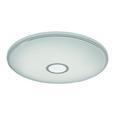 LED-Deckenleuchte Ross max. 30 Watt - Chromfarben/Opal, ROMANTIK / LANDHAUS, Kunststoff/Metall (70/8cm) - Premium Living