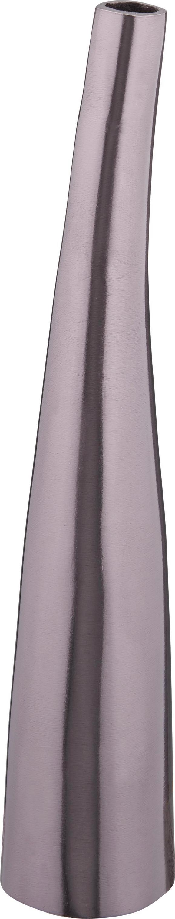 Vase Asha in Schwarz/Nickel - Schwarz, LIFESTYLE, Metall (6/30cm) - MÖMAX modern living