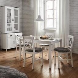 Tischgruppe Amira - Weiß, MODERN, Holz/Holzwerkstoff (75/73cm) - Modern Living