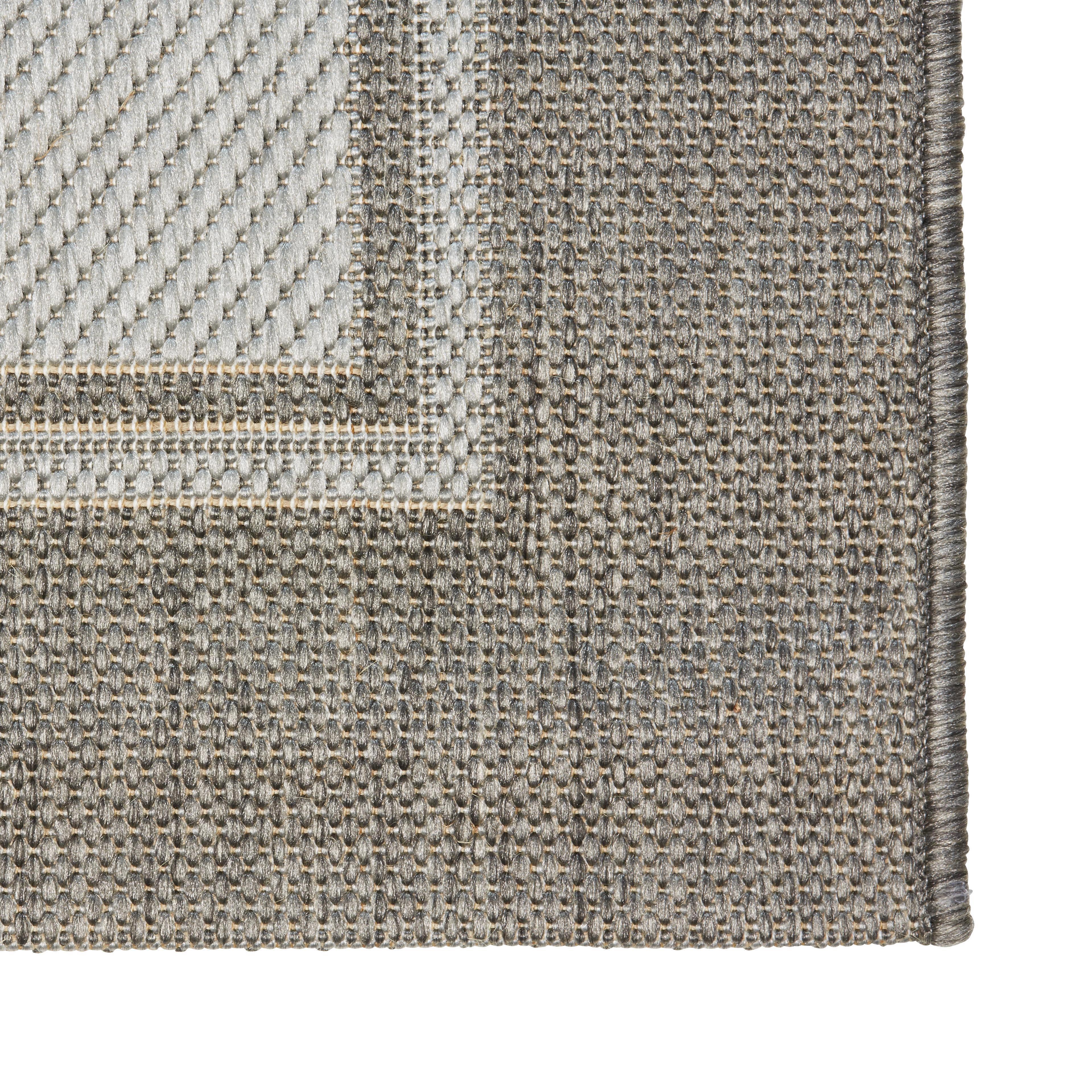 Flachwebeteppich Naomi, ca. 100x150cm - Beige/Grau, KONVENTIONELL, Textil (100/150cm) - BASED